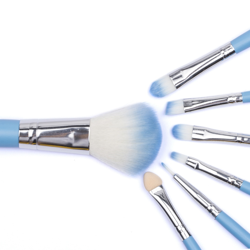 7 pcs Makeup Brushes Protable Cosmetic Brush Sets Fruit Green Make Up Brush Tools Suit 78