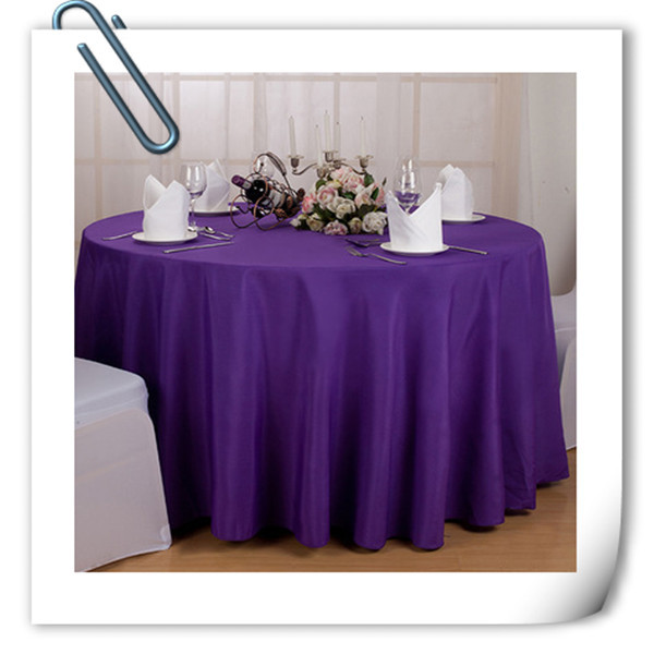 Factory Price!!!!! Wholesale Cheap Polyester 70inch Table Cloths 20pcs Purple  Tablecloths