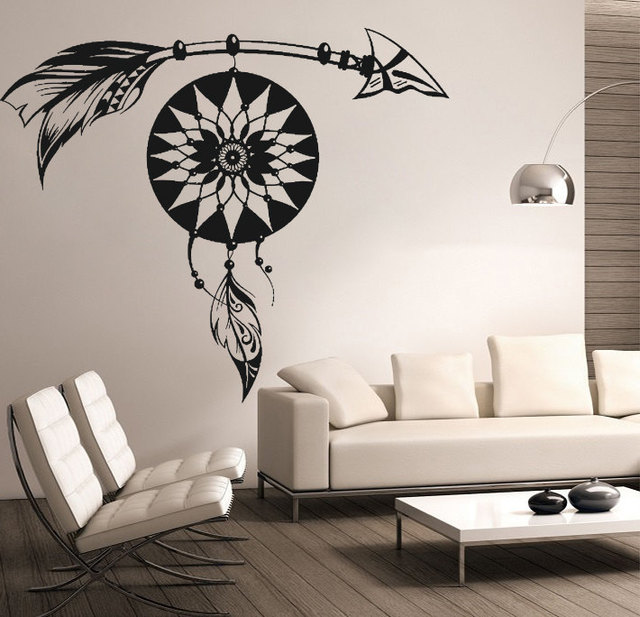 Special Dream Catcher Patterned Wall Decals Home Amulet Bedroom Decor Wall Stickers Art Wall Decor Mural & Special Dream Catcher Patterned Wall Decals Home Amulet Bedroom ...