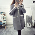 NEW hot sale women's spring autumn winter long section casual knit cardigans coat woman college wind loose sweaters coat