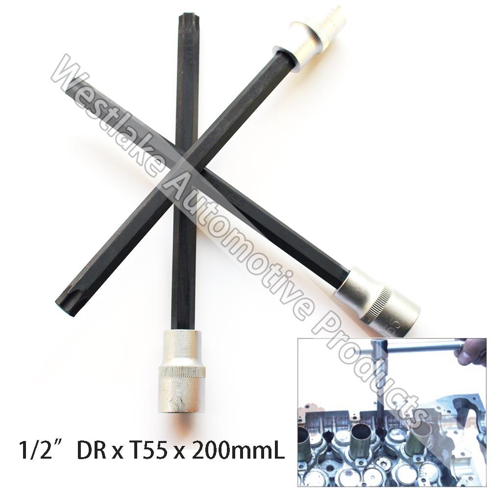 "Streng T55 Buchse 1/2 ""stick Torx Stern Bit Extra Lange 200mm Motor Kopf Bolt Sockel Für Bmw (manipulations Beweis) Attraktive Mode"