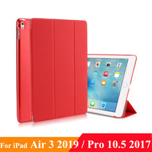 "Case for iPad Air 10.5"" (3rd Gen) 2019 iPad Pro 10.5 2017, Lightweight Slim Shell Standing Cover with Translucent Back Protector"