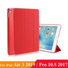 """Etui do ipada Air 10.5 """"(3rd Gen) 2019 iPad Pro 10.5 2017, lekki cienki pokrowiec obudowa stojąca z półprzezroczystą ochrona tyłu"""