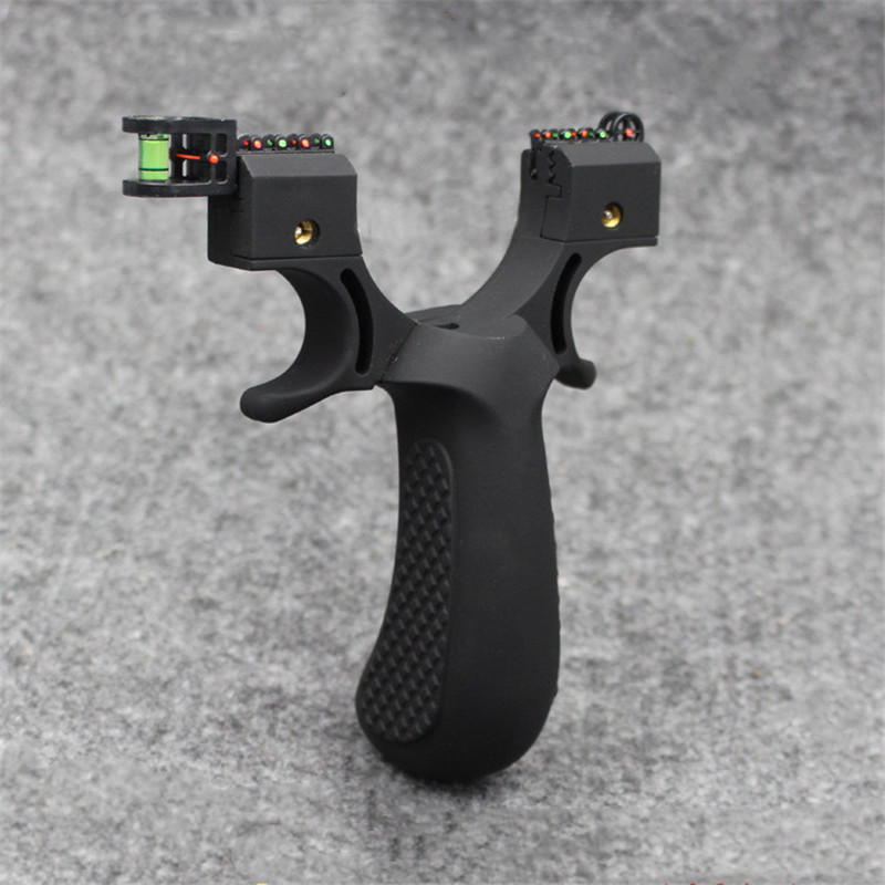 Powerful Shot Resin Slingshot With Flat Rubber Band 5 Aiming Precision Adult Outdoor Hunting Shooting Tool Accessories