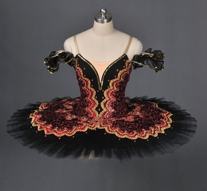 Image 3 - La Esmeralda Frauen Pfannkuchen Ballerina Platter Bühne Kostüm Tutu Röcke Für Erwachsene Professionelle Ballett Tutus Punkt Dance Kostüm