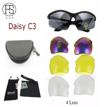 Hot Sale Daisy U S Military Tactical C3 Protective Glasses Goggles Impact Resistant Sand Windproof Safety