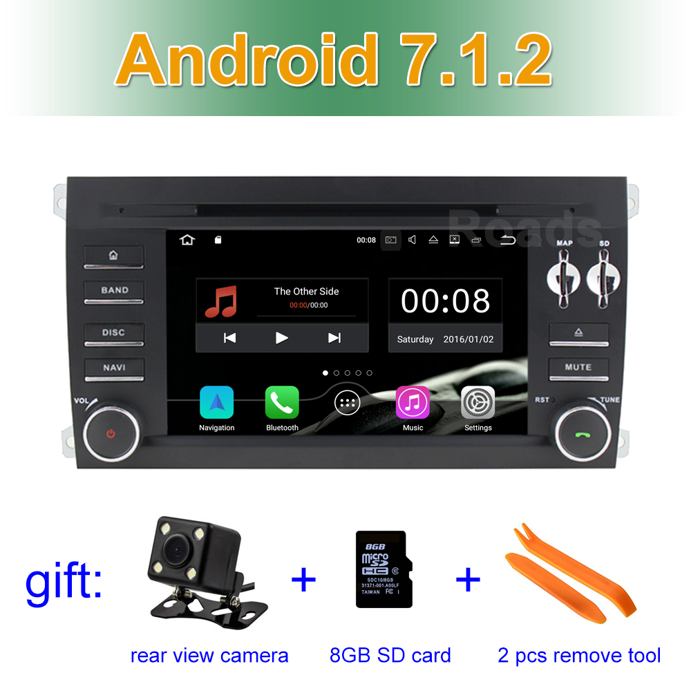 2 GB RAM Android 7.1 Car DVD Player for Porsche Cayenne 2003 2004 2005 2006 2007 2008 2009 2010 with GPS BT Wifi Radio