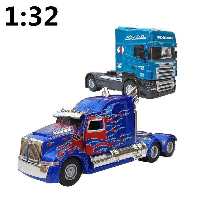 Modelo de camión de metal a escala 1:32, modelo de camión de aleación de alta simulación, vehículo de transporte agrícola, envío gratis