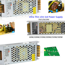 High Voltage Ultra Thin Power Supply 60W/100W/150W/200W/250W/300W 110-240V led Driver for led strip light
