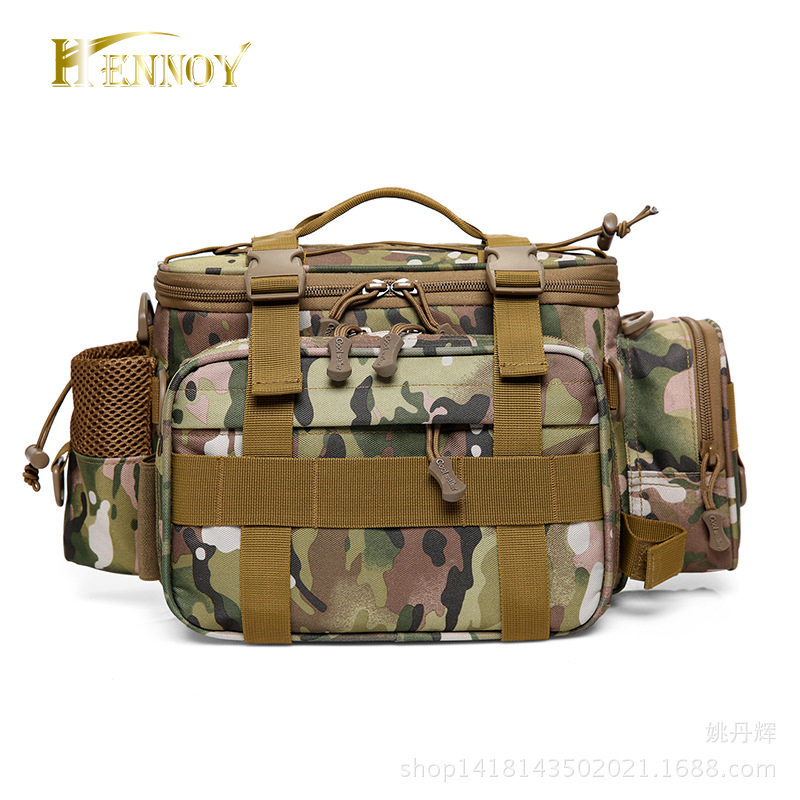 Hennoy New-Multifunkční rybářské potřeby taška vodotěsný Nylon rybářské rameno taška velkoobjemové Lure Tack Pack 27 * 10 * 20cm