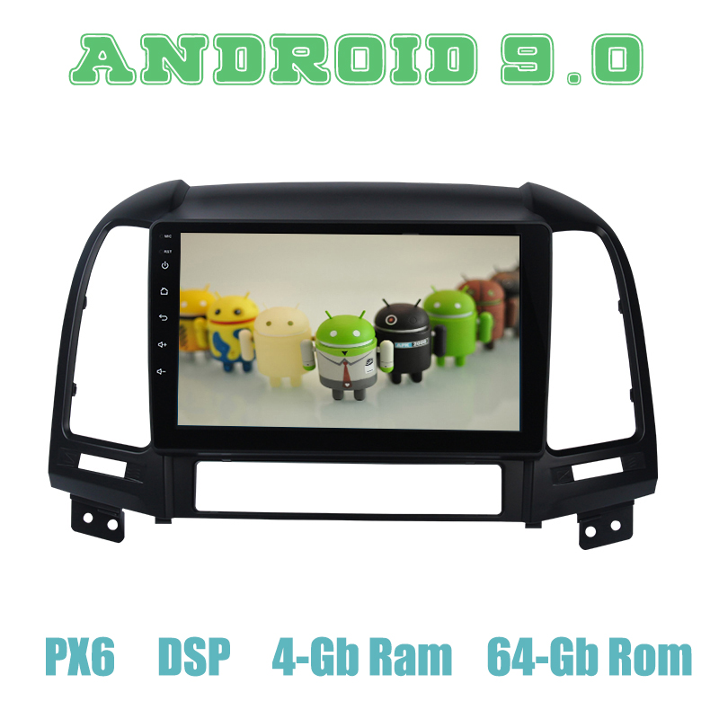 px6 Android 9.0 Car <font><b>GPS</b></font> Radio Player for <font><b>Hyundai</b></font> <font><b>Santa</b></font> <font><b>fe</b></font> 2006 2007 2008 2009 <font><b>2010</b></font> 2011 with DSP 4+64GB Auto Stereo Multimedia image
