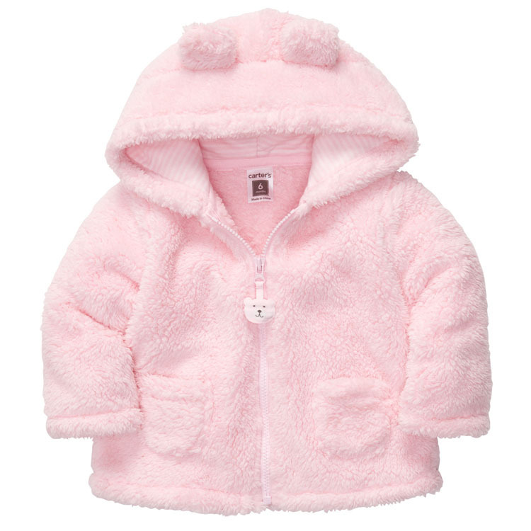 2016 spring autumn Coral velvet baby jacket/coat long ...