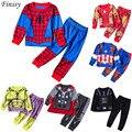 Spiderman Traje para as crianças Hulk Ironman Capitão América Roupas para meninos terno set Star wars Raytheon Cosplay Vestido de Festa