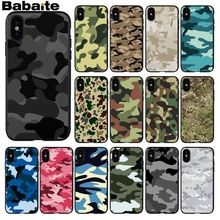 Babaite Camouflage Luxury Unique Design Phone Cover for iPhone X XS MAX 6 6S 7 7plus 8 8Plus 5 5S XR