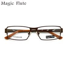 Nueva llegada titanium gafas luz marcos ópticos anteojos de marco completo con flex los hombres o las mujeres vintage gafas de prescripción 0907