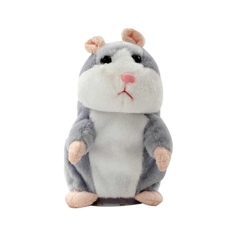 Talking Hamster Muis Huisdier Kerst Speelgoed Speak Talking Sound Record Hamster Educatief Pluche Speelgoed voor Kinderen Kerst Cadeau