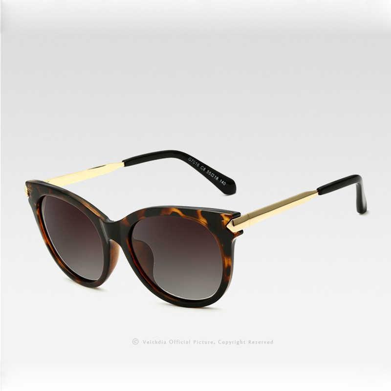 VEITHDIAแว่นตากันแดดVintage Polarized Sunแว่นตาCat Eye Designerสุภาพสตรีแว่นตากันแดดแว่นตาหญิงGafas 7016