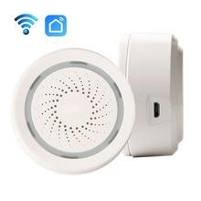 Slimme Draadloze WiFi Sirene Alarm Sensor USB Power Via iOS Android APP Kennisgeving Plug En Play Geen HUB Eis