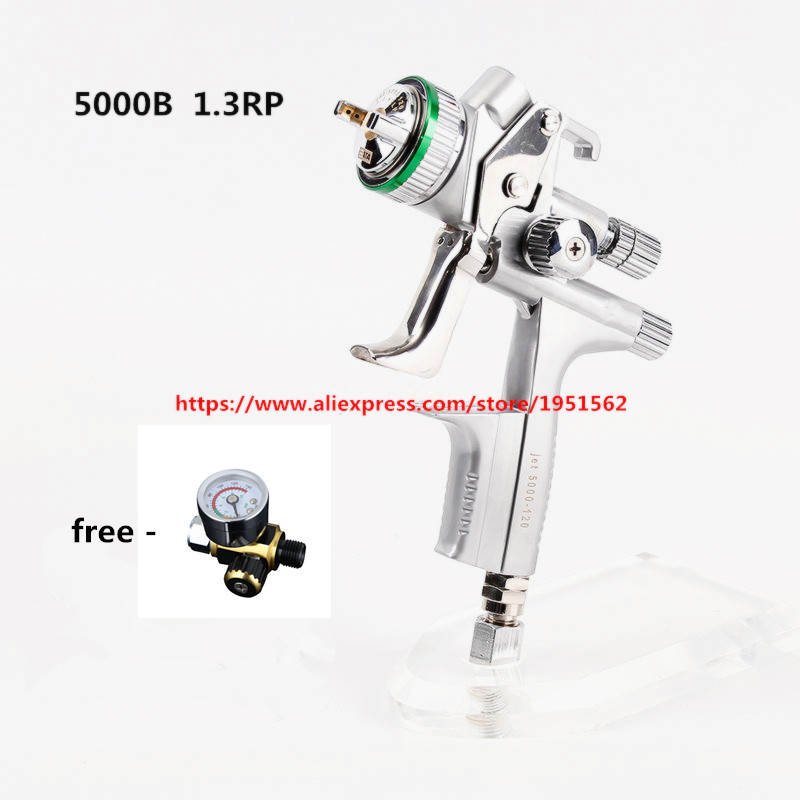SPRAY GUN  RP  5000 b Wholesale and retail  air spray gun Gravity  1.3mm nozzle pneumatic spray gun car spray paint gun air gravity feed spray paint gun plastic cup pot fastmover threaded connector t15