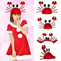Halloween Christmas Costume Party Hats Funny Crab Hat Unisex Costume/ Birthday Gift For Children/Adult Christmas B2