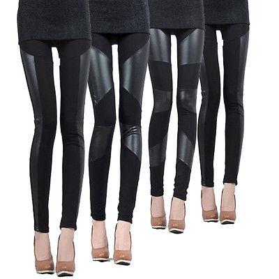 Online Get Cheap Panel Leggings Leather Black -Aliexpress.com ...