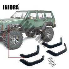 INJORA 1:10 RC Crawler Nero di Gomma Fender Flares per Axial SCX10 II 90046 90047 Auto Del Corpo Borsette