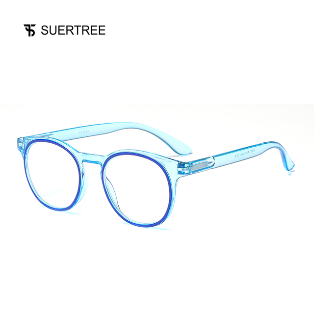 SUERTREE Reading Glasses Anti Blue Ray Ultralight HD Diopter Lens Presbyopic Glasses Comfort Fit Men and Women for Reading JH211