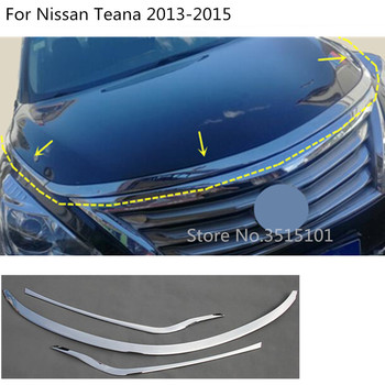Car cover Bumper engine ABS Chrome trim racing Front Grid Grill Grille frame edge 3pcs For Nissan Teana Altima 2013 2014 2015