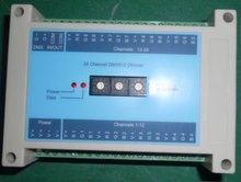 24 канала ( 8 * 3 канал ) DMX диммер, С переключателем для установки DMX адрес вручную