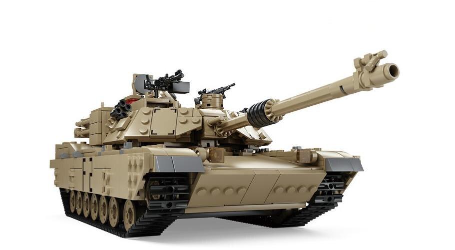 Classique Militaire Arme M1A2 Réservoir Modèle Véhicule Pistolet blocs de construction compatible avec Lepin bricolage Jouets Briques Meilleur Cadeau Pour Enfants