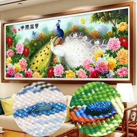 Diamond embroidery full round rhinestones,special shaped Diamond cross stitch pictures,Diamond mosaic houses,flowers peacock,5d