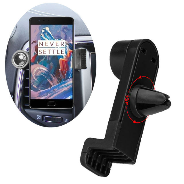 360 Degree Rotation Portable Car Air Vent Holder for Oneplus 5T A5010 5 A5000 3T OnePlus 3 2 1 X Phone Car Trestle