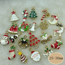 Metal alloy Mix Christmas Sets charm For Holiday Decoration,christmas decoration supplies ,christmas decoration,Free Shipping!