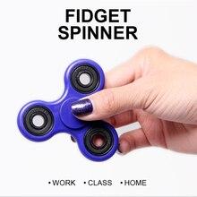 Непоседа Spinner 2017 EDC Tri-spinner 3D Ручной Счетчик Фокус Пальца Счетчик Непоседа Игрушки Помочь Бросить Курить СДВГ ОКР Тревога