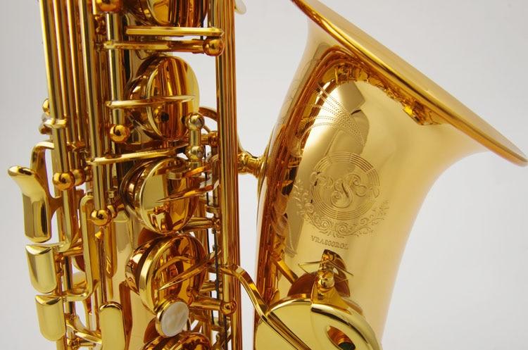 China Taiwan Cadeson Gold Lacquer Alto Sax Saxophone Eb Wind Brass Instrument Sax Alto Western Instruments Saxofone saxophone alto eb pure silver surface wind instrument sax western instruments saxofone alto eb professional musical instrument