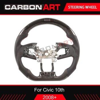 اكسسوارات استبدال الصمام سباق عرض ألياف الكربون عجلة القيادة لهوندا سيفيك نوع R 2016 2017 2018 2019 سيارة التصميم