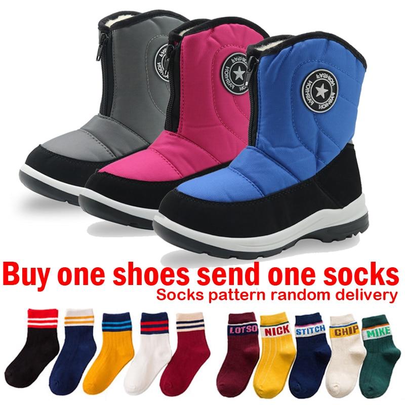 Winter Shoes for Girls Snow Boots Kids Winter Boots Children Waterproof Hiking Boot Boys Outdoor Snowshoes Girl Platform Boots цены