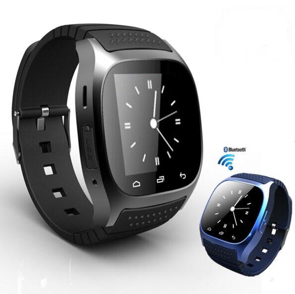 imágenes para Nuevo bluetooth m26 elegante wtach v4.0 smart watch v4.2 wearable dispositivos de sincronización conectar para ios android teléfono