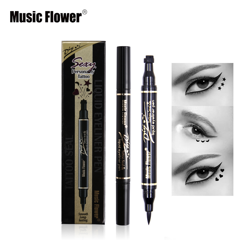 Eyeliner Back To Search Resultsbeauty & Health Long Lasting Waterproof Liquid Eyeliner Stamp Pencils Double Head Star Flower Heart Shape Seal Eyes Liner Cheap Party Makeup