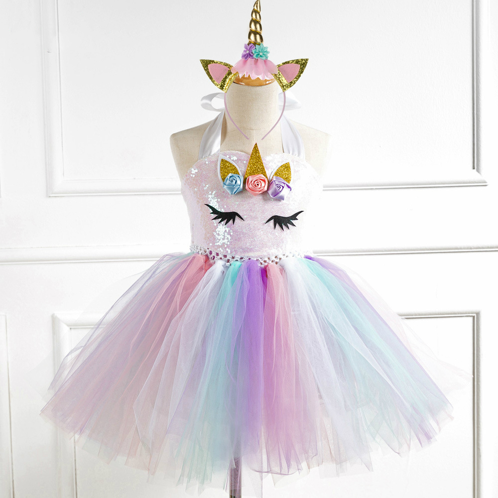 79fb394915f1b POSH DREAM New Sequins Unicorn Toddler Baby Girls Dresses with ...