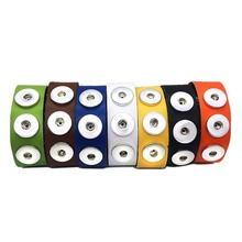 7 Colors Hot sale 209 Original Genuine Leather Retro Bracelet 18mm Snap Button Charm Jewelry For Women Teenagers Men