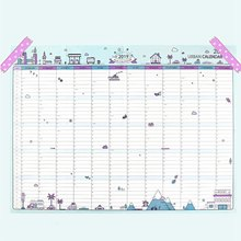 2019 365days Paper Wall Calendar Office School Daily Planner Notes, Very Large Study New Year Plan Schedule 43*58cm(China)