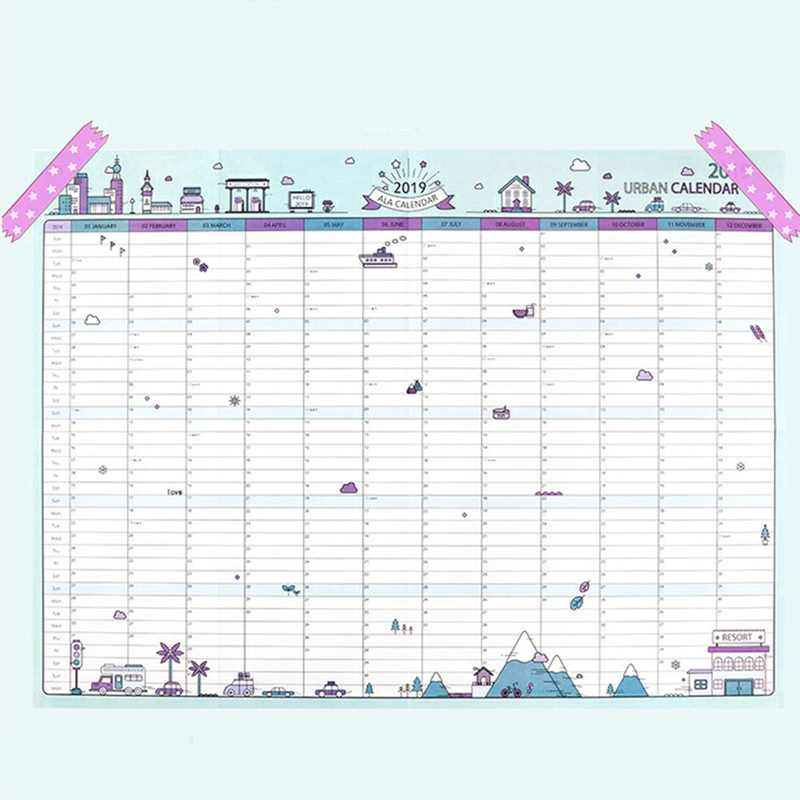 image relating to Large Daily Planner named 2019 365times Paper Wall Calendar Place of work Higher education Each day Planner Notes, Really High Analysis Fresh new Calendar year System Program 43*58cm