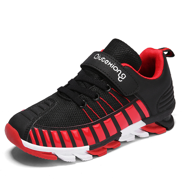 49a0426b421836 2018 New Styles Mesh Breathable Stripes Designs Childrens Running Shoes For Kids  Boys Girls Sneakers Students