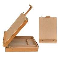 Artist Painting Hardware Paint Palette Adjustable Sketchbox Large Art Portable Wooden Table Easels Accessories Suitcase Desktop