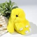 15 cm de pelo de conejo Rex muerto colgando bolsa Morral de la Felpa de piel de Conejo Llavero Colgante Pendiente de La Joyería envío gratis