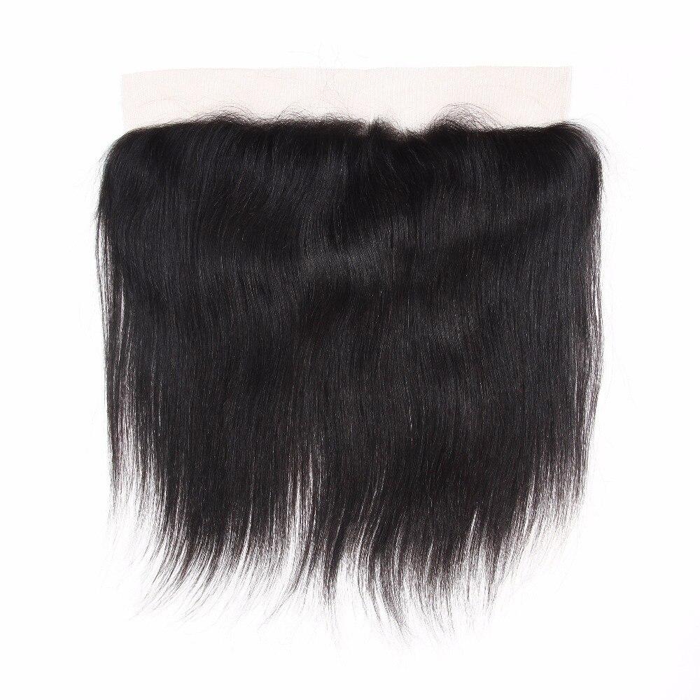 ФОТО Mealid 1 PC Brazilian Virgin Hair Straight Lace Frontal Closure Brazilian Lace Frontal Closure Straight 13X4 Ear To Ear Closure