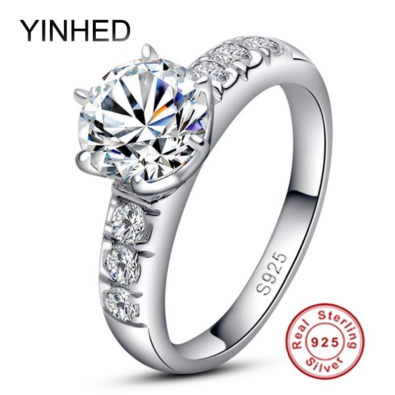 95% Off ! YINHED 1ct Sona CZ Diamant Wedding Ringss