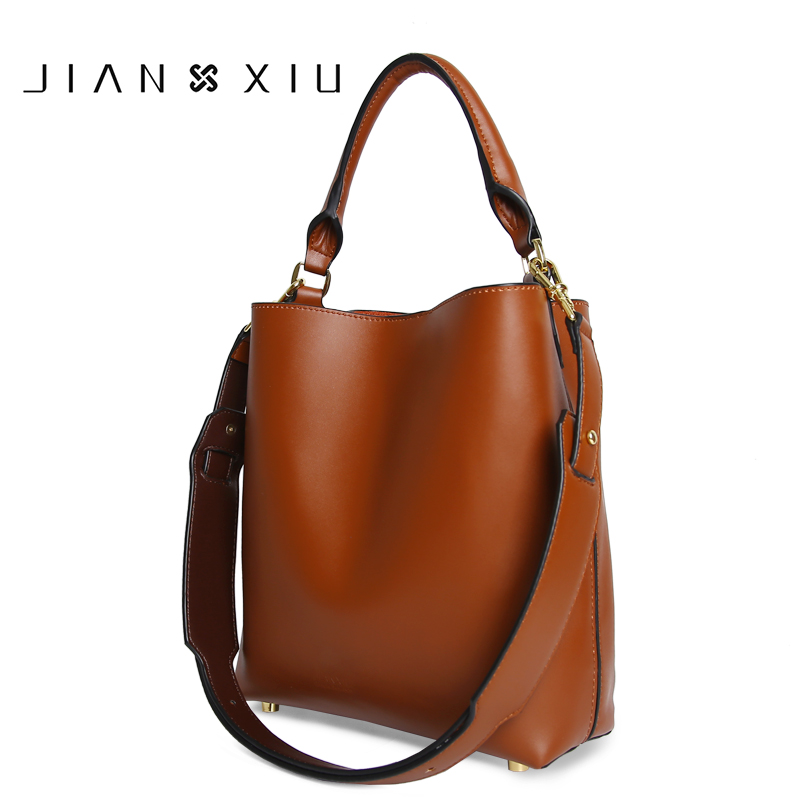 2018 New fashion Women Messenger Bag High Quality Genuine Leather Handbag Fashion Composite Bag Large Bucket Shoulder Handbags цена