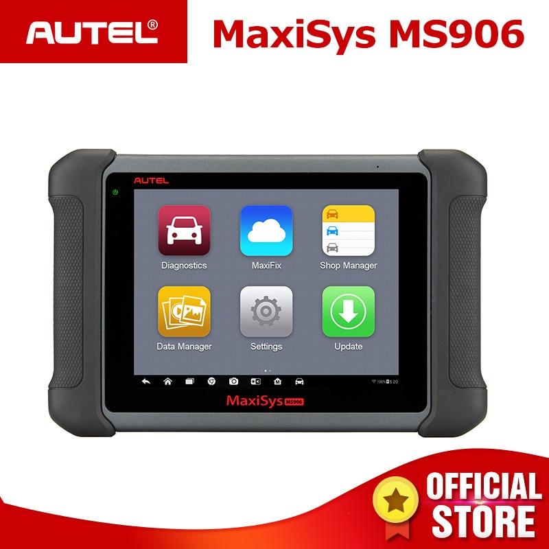 AUTEL MaxiSys OBD2 MS906 Car Auto Ferramenta de Diagnóstico do Scanner Automotivo para a Chave de Codificação 2 Testador ECU Programador Chave OBD TPMS serviço